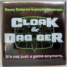 CLOAK & DAGGER Vintage Movie Promotional Pinback Button [1984] - NM
