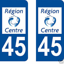 stickers autocollants plaques immatriculation auto Département Loiret 45