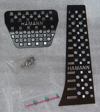 BMW Hamann Brand OEM Black Anodized Aluminum Automatic Or SMG Pedal Pad Set New