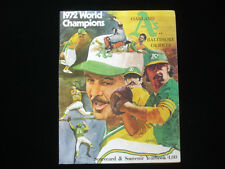 1973 ALCS Baltimore Orioles vs. Oakland A's Program EX+