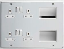 Deta Chrome Finished plate switches