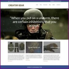 MILITARY CLOTHING website Earn £96.00 A SALE|FREE Domain|FREE Hosting|Traffic