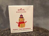 Worn Box Hallmark Poppy the Snowman 2019 MINI Christmas Ornament NIB