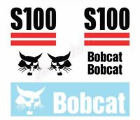 Bobcat S100 Skid Steer Set Vinyl Decal Sticker - FREE SHIPPING