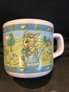 Vtg 90s Peter Rabbit Melamine Baby Child Cup Mug with Handle
