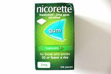 Nicorette FRESHMINT Flavour 2mg Gum - Nicotine - 105 Pieces