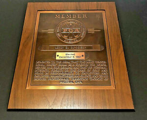 "Vintage 1967 PGA Member Wood Plaque 12 1/4"" x 14 3/4"""