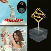 DIY Surprise Making Toy-Cake ATM-Happy Birthday Cake Topper - Money Box Funny