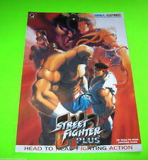 Capcom STREET FIGHTER PLUS EX2 Original 1999 NOS Video Arcade Game Foldout Flyer