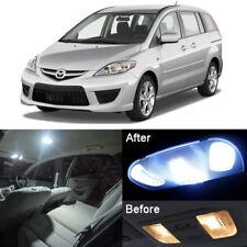 6Pcs Bright White LED SMD Lights Interior Package Kit For Mazda 5 2006-2010 #E