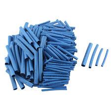 200 pcs 4 Tamanos Poliolefina De Tuberia Termoretractil Cable Manga Azul D6Z7