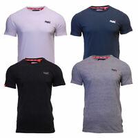 Superdry Mens Orange Label Crew Neck Short Sleeve T Shirt Navy Black White Grey