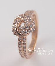 Gold Plated/Zirconia Ring 9/60 New Sparkling Love Knot Authentic Pandora Rose