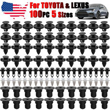 100x For Toyota Engine Cover Inner Fender Bumper Clips Screw Rivets 7 8 9mm Hole