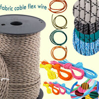 0.75mm Vintage Electric Colour 3Core Twisted/Round Braided Fabric Cable FlexCord