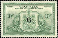 Stamp Canada Mint 1950 VF 10c Overprinted G Scott #EO2 Special Del. Never Hinged