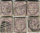 GB QV PENNY LILACS AA01 KILOWARE OFF PAPER...100 stamps