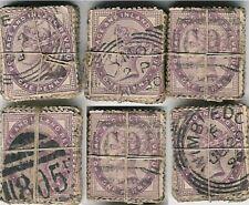 GB QV PENNY LILACS AA01 KILOWARE OFF PAPER...100 stamps