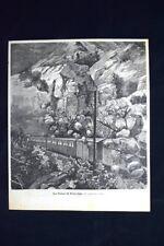La frana di Pracchia, in Toscana (27 gennaio 1886) Incisione del 1886