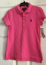Polo Ralph Lauren Girls Pink Polo Shirt Size M(8-10) NWT