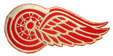 New NHL Detroit Red Wings Logo embroidered iron on patch. 3 x 2.15 inch (IB16)