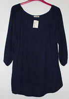 Blue Sketch Navy Gypsy Style Top Size 16 New With Tags