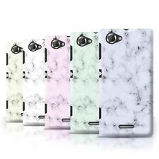 Étuis, housses et coques blanc Sony Xperia L pour téléphone mobile et assistant personnel (PDA)