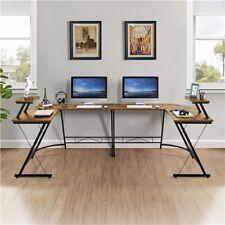 More details for l shaped computer corner desk pc table workstation home office large study desk