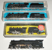 Lot of 4 Steam Locomotives Atlas Bachmann Santa Fe Undecorated Mikado N Scale