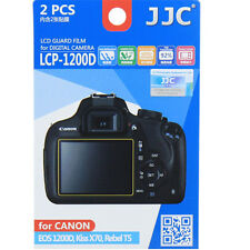 JJC LCP-1200D polycarbonate LCD Film Screen Protector For Canon T5 1200D  2PK