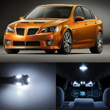 7x Xenon White SMD LED Interior Bulbs for Pontiac G8 + License Plate Lights WK