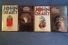 Lot of 4 Rare John Creasey Dr. Palfrey Mystery Suspense Adventure 1960-1970s