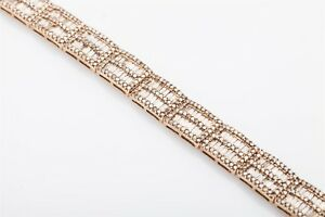 Designer $20,000 20ct Champagne Diamond 10k Yellow Gold RIBBON Bracelet 28g