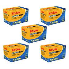 5X Kodak Gold ULTRAMAX 400ASA 35 mm Color de impresión de película de exposición de 135-36 Paquete de 5