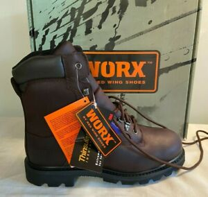 Worx by Red Wing 6484 Men's Leather Brown Insulated Waterproof Vibram Boots 9.5M