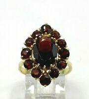 Granat Ring  Granate 333er  Gold  # 57