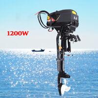 48V 5HP Electric Outboard Boat Engine Trolling Motor 1200W Propeller shaft 42CM