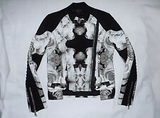 LAMB  100% Heavy Duty Cotton Motorcycle Chic Jacket-Size 2-Black/Floral-Nice
