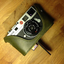 Kenji Leather Half Case for Leica M8 M9 M9P with Direct Battery and SD access!
