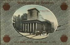 Boston MA 1907 Home Week Bean Pots & Paint Palette Border King's Chapel PC