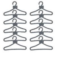 20x Mini Plastic Clothes Rack Coat Hanger for Barbie Doll Clothes accessories