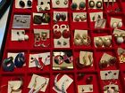 Large Lot of Pierced Earrings, Excellent