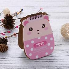 2018 Cartoon Animal Desk Desktop Calendar Flip Stand Table Office Planner New