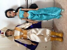 disney Store  princess Jasmine and Aladdin dolls