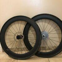 700C Tubular Carbon Fiber Wheelset Bike Road Wheelset Cassette Clement Tire