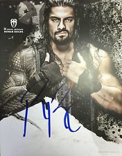 WWE WRESTLING HAND SIGNED ROMAN REIGNS THE SHIELD WWF NXT PHOTO POSTER AUTOGRAPH