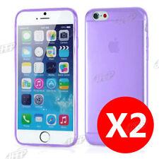 Buy 1 get 1 Free, Ultra Slim Purple iPhone 6 / 6S Gel Case Cover AU Clear