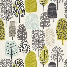 CLARKE and CLARKE 100% COTTON CURTAIN FABRIC/CRAFT TRAD Chartreuse/Charcoal p/m