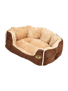 Gor Pets Nordic Soft Snuggle Dog Cat Bed Washable - 24 inch Brown