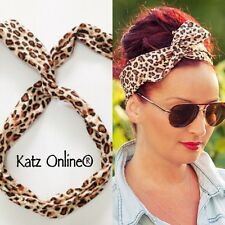 Katz Leopard Wire Head Band Wrap Wired Headband Animal Print Girls Hair Band